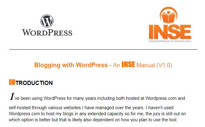 wordpress manual snapshot